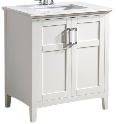 Bathroom Vanities Winston 30 Quartz Marble Top Plumbing Sinks White Cabinets Us Ebay