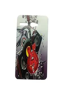 Letz Dezine Guitar Design Printed Mobile Back Case Cover for Lava Iris X1 Atom 2