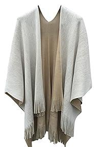 VamJump Women Winter Knit Reversible…