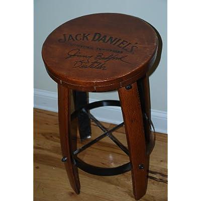 """Bar Stool 28"""" Tall X 15.5"""" Wide Jack Daniels Whiskey Barrel Bar Stool"""