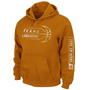 NCAA Men's Texas Longhorns Unbreakable Spirit Hooded Sweatshirt (New Texas Orange, Medium)