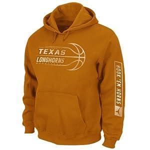NCAA Men's Texas Longhorns Unbreakable Spirit Hooded Sweatshirt (New Texas Orange, Medium)