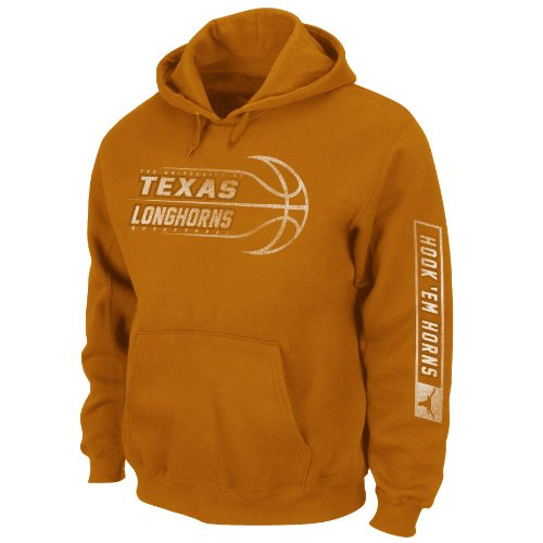 NCAA Men's Texas Longhorns Unbreakable Spirit Hooded Sweatshirt (New Texas Orange, Large) at Amazon.com