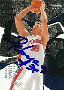 Zeljko Rebraca autographed Basketball Card (Detroit Pistons) 2003 Upper Deck Black... by Autograph Warehouse