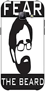 Snoogg Fear The Beard 2745 Hard Back Case Cover Shield Forsamsung Galaxy J1