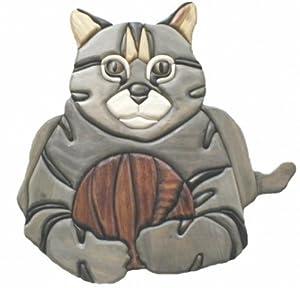 Amazon.com: Cat - intarsia Wood Carving: Home & Kitchen