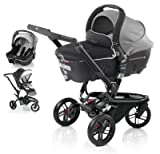 Jane Trider +Transporter Auto Carrycot + Strata Car-Seat - Shadow Black/Grey