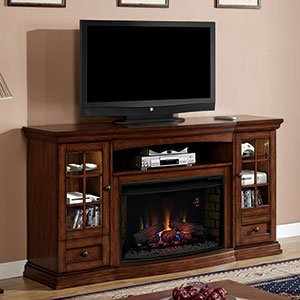 ClassicFlame Seagate 32 in Electric Fireplace Entertainment Center in Premium Pecan 32MM4486-P239 image B00A6RKXAO.jpg