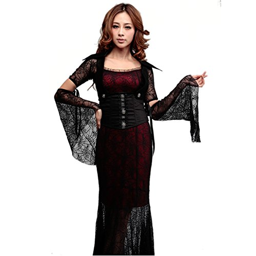 Amurleopard Women's Demoness Vampire Dress Halloween Costume
