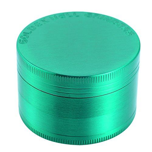 Golden-Bell-4-Piece-2-Spice-Herb-Grinder-Green