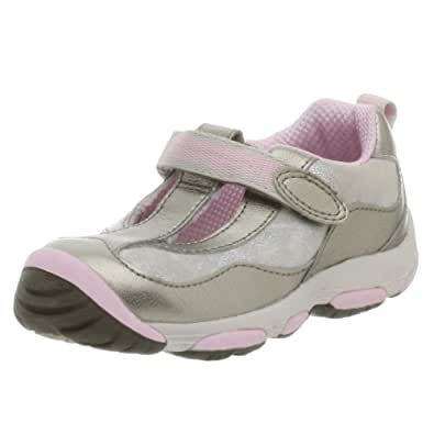 Amazon.com: Stride Rite Toddler Milena T-Strap Stage 3 Sneaker,Pewter