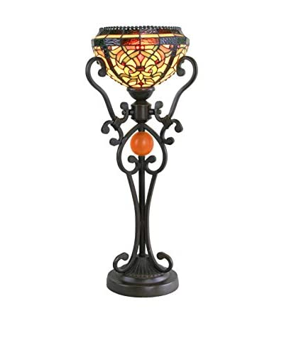 Legacy Lighting Baroque Table Torch, Burnished Walnut
