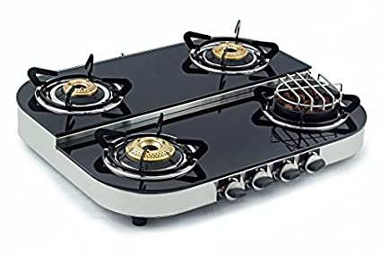 Sunshine Meethi Angeethi Steel Gas Cooktop (4 Burner)