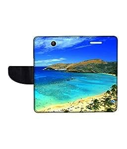 KolorEdge Printed Flip Cover For Microsoft Lumia 430 -Multicolor (43KeMLogo11311Lumia430)