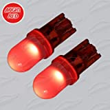 2x 1 SMD LED BRIGHT RED 194 501 921 T10 W5W WEDGE SIDELIGHTS BULBS WILL FIT MG ZR (2001-2004)
