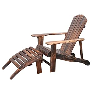 Fauteuil de jardin adirondack chaise longue chaise plage for Chaise longue jardin amazon