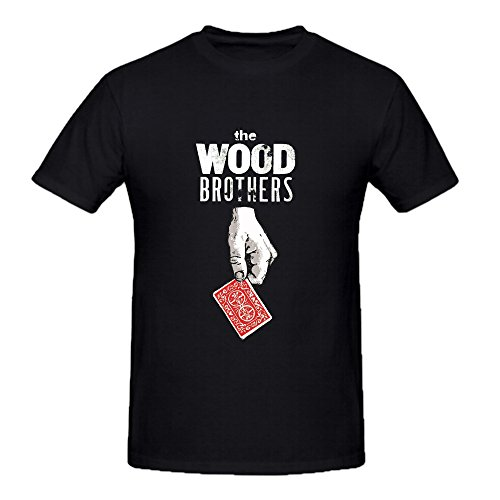 Ninoo The Wood Brothers Rock Poster Design T Shirt for Men Black (Wood Brothers T Shirt compare prices)