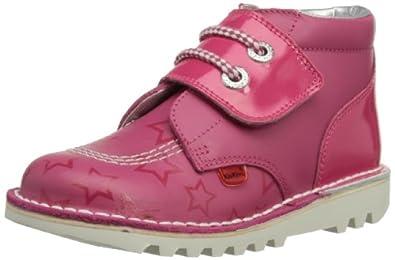 Kickers Girls Kick Hi One Boots 112677 Dark Pink 5 UK Child, 22 EU