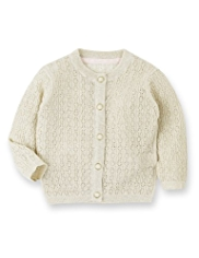 Autograph Cotton Rich Pointelle Cardigan