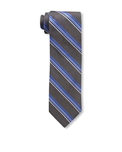 Bruno Piatelli Men's Printed Silk Tie, French Blue/Grey