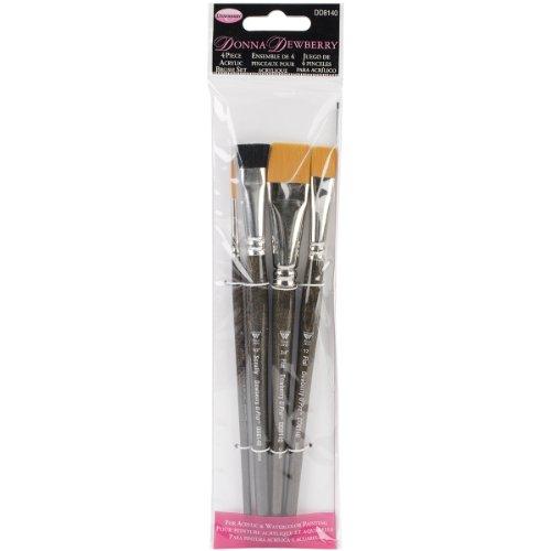 Weber 4-Piece Donna Dewberry Acrylic Brush Set, Includes