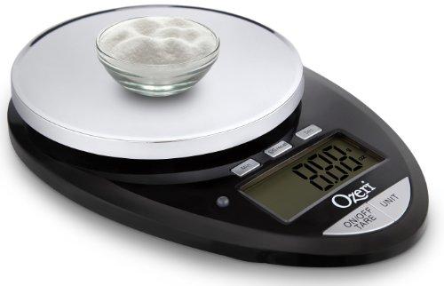 Ozeri Pro II - Balance de cuisine digitale noire - De 1g à 5kg - Fonction Timer