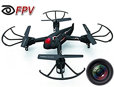 "Haktoys HAK908F 17"" Diagonal FPV (WiFi Real-Time Video) Camera 2.4GHz 4CH Headless Mode RC Quadcopter, 6 Axis Gyroscope, Loop Function, Led Lights, Rechargeable, Ready To Fly"