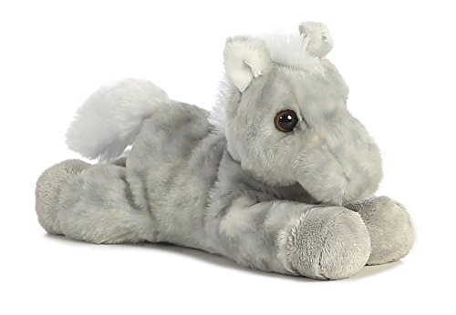 "Toby Gray Horse Mini Flopsie 8"" by Aurora"