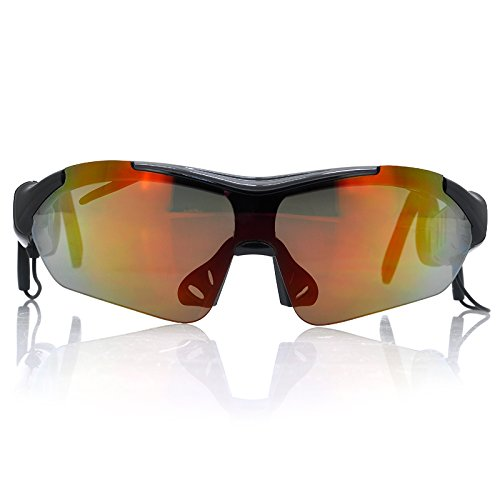 Bluetooth Sport Sunglasses - Stereo Music, Bluetooth Version V2.1+Edr, Touch Control, 3X Detachable Lens