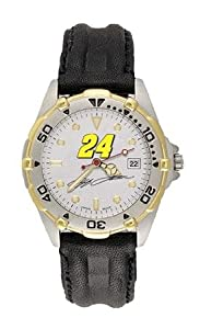 LogoArt Jeff Gordon Mens All Star Leather Watch - Jeff Gordon Each by Nascar Officially Licensed