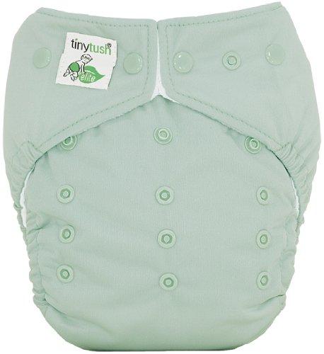 Tiny Tush Elite 2.0 Baby Diaper, Sage, One-Size front-1001518