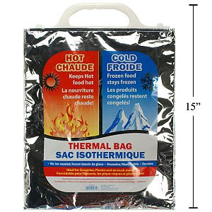 """Small Insulated Thermal Bag With Handle, 12X14"""" front-619174"""