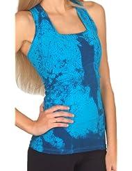 Margarita Activewear Aqua Batik Tie Dye Top