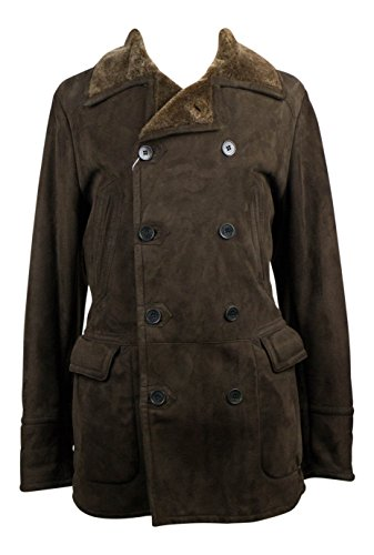canali-brown-suede-shearling-leather-peacoat-size-54-44