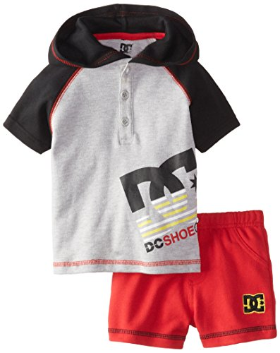 DC Shoes Co Baby Boys' Gray Hoody with Red Shorts