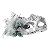 Venetian Style Silver Eye Costume Masquerade Mardi Mask