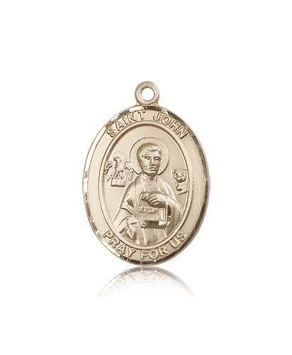 14kt Gold St. John the Apostle Medal changxing jewelry 6x8mm 14kt