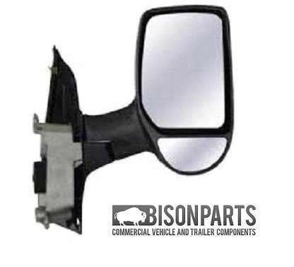 ford-transit-mk6-mk7-2000-2014-door-mirror-manual-short-arm-twin-glass-type-black-cover-drivers-side