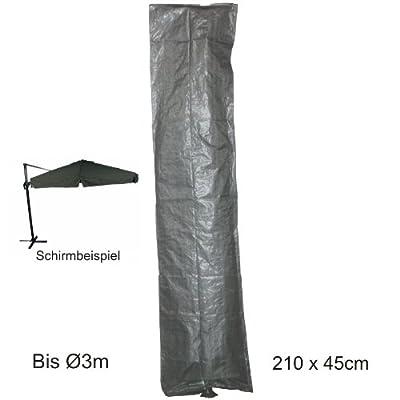 Ampelschirmhülle Schutzhülle Ø3m grau Sonnenschirm Wetterschutz Sonnenschutz von Lesli Living bei Gartenmöbel von Du und Dein Garten