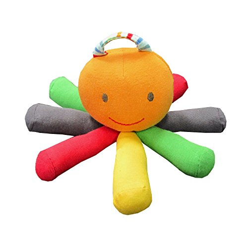 Under The Nile Stripes and Brights Scraptopus Toy in Multi Color - 1