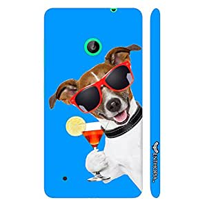Nokia Lumia 530 DOG SAYS CHEERS designer mobile hard shell case by Enthopia