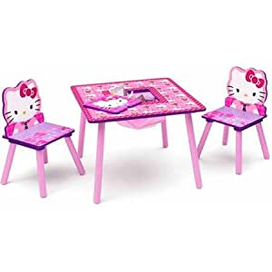 Hello Kitty Table And Chair Set With Storage Toys Games
