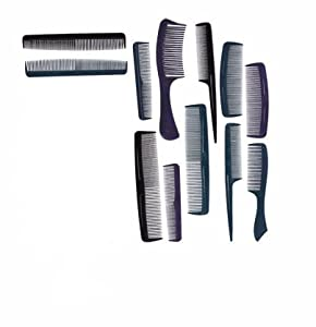 Sassy & Chic Plastic Combs, 12 Count
