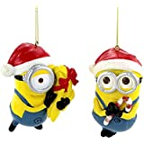 "3.5"" Despicable ME Dave & Carl Blow Mold Ornaments 2/asstd."