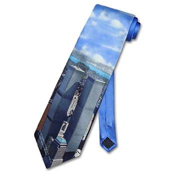 WORLD TRADE Center SILK NeckTie TWIN Towers Men's Neck Tie