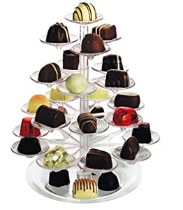 Delicacy tree mini cup cake canape chocolate sweet stand for Canape display stands