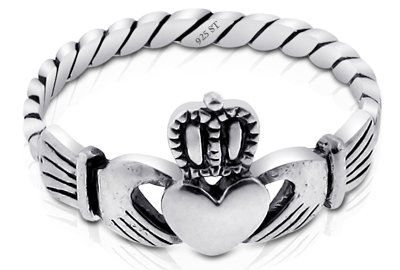 Nickel Free Sterling Silver Irish Claddagh Friendship