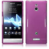 Purple Gloss Gel Case For Sony Xperia P LT22i + FREE Screen Protect