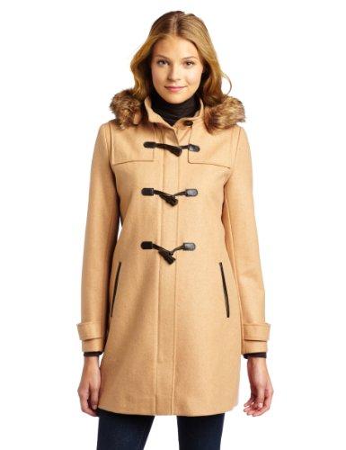 Tommy Hilfiger Women's Hooded Toggle Coat, Camel, 10