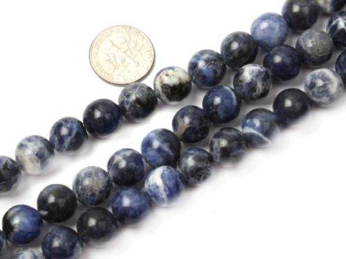 Sweet & Happy Girl'S Store 10mm Round Gemstone Sodalite Stone Beads Strand 15